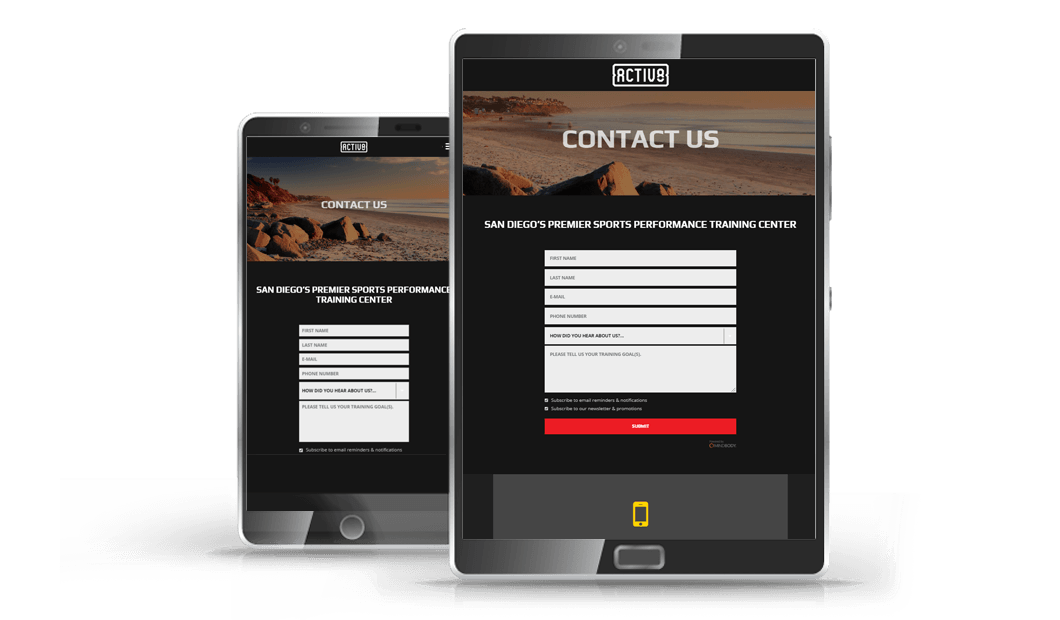 website design on ipad and mobile phone for local business