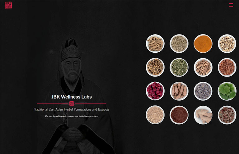 JBK wellness labs website design