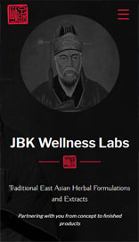 JBK Wellness Labs design on mobile