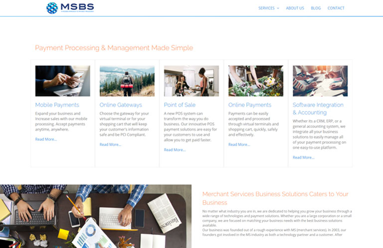 MSBS website design