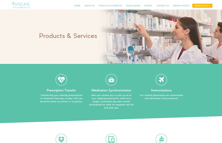 website design for medical