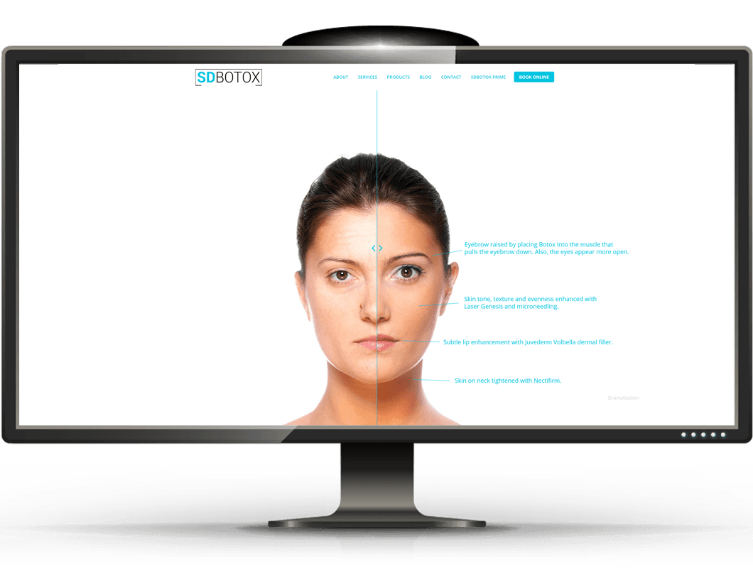 ipad website design for medspa in san diego