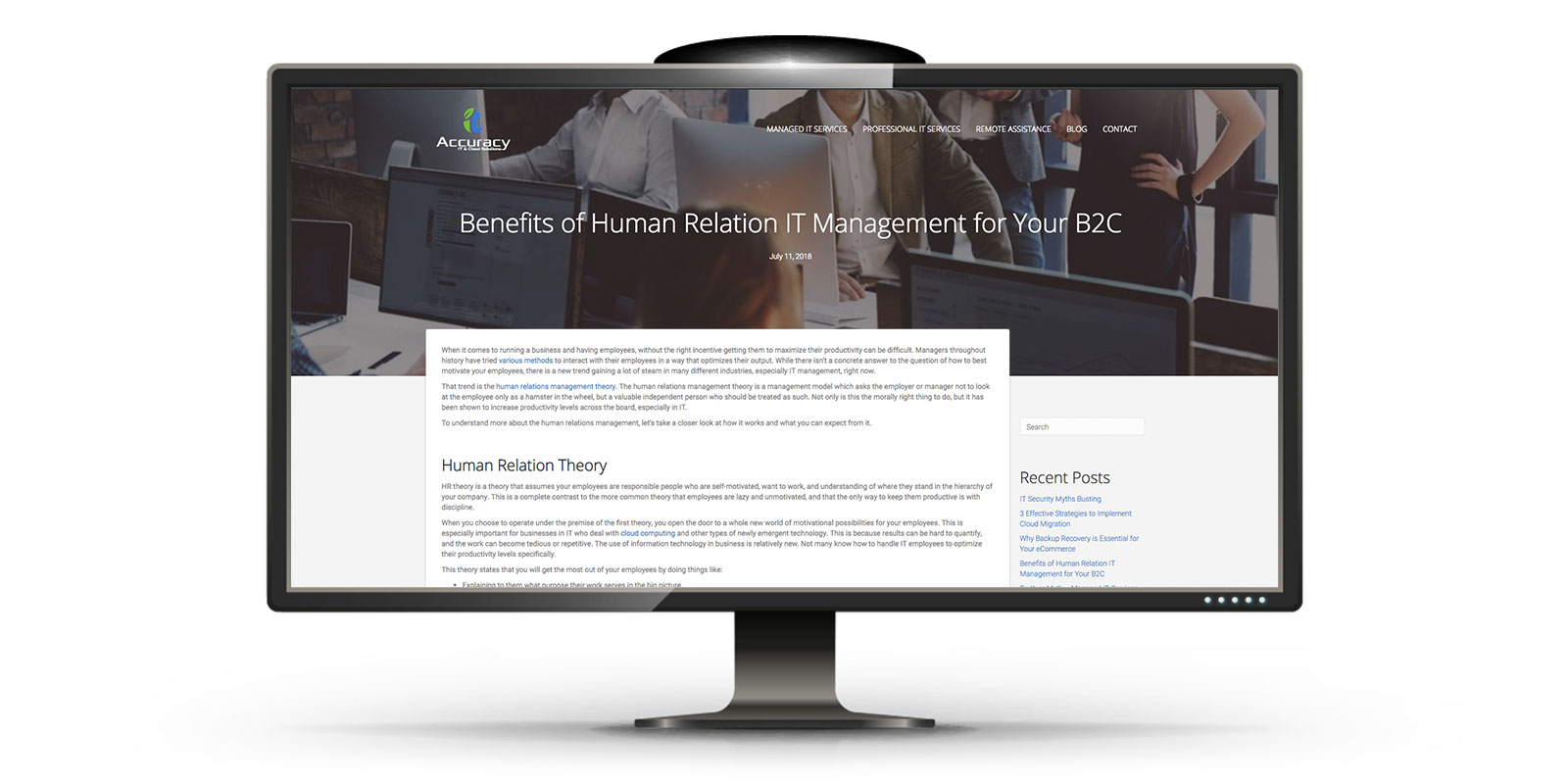 website design for IT Consultant in LA