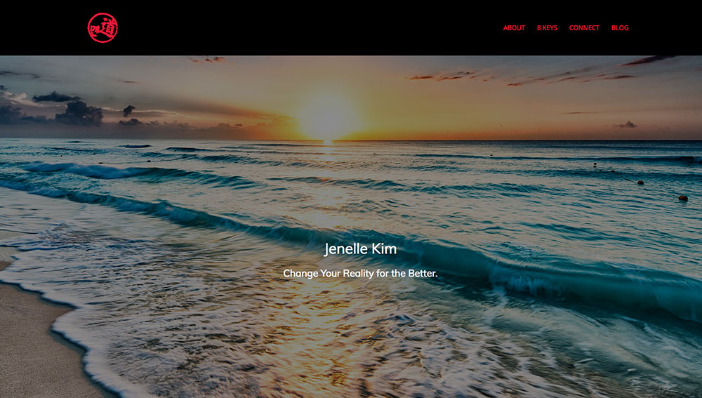 website design for Author Jenelle Kim