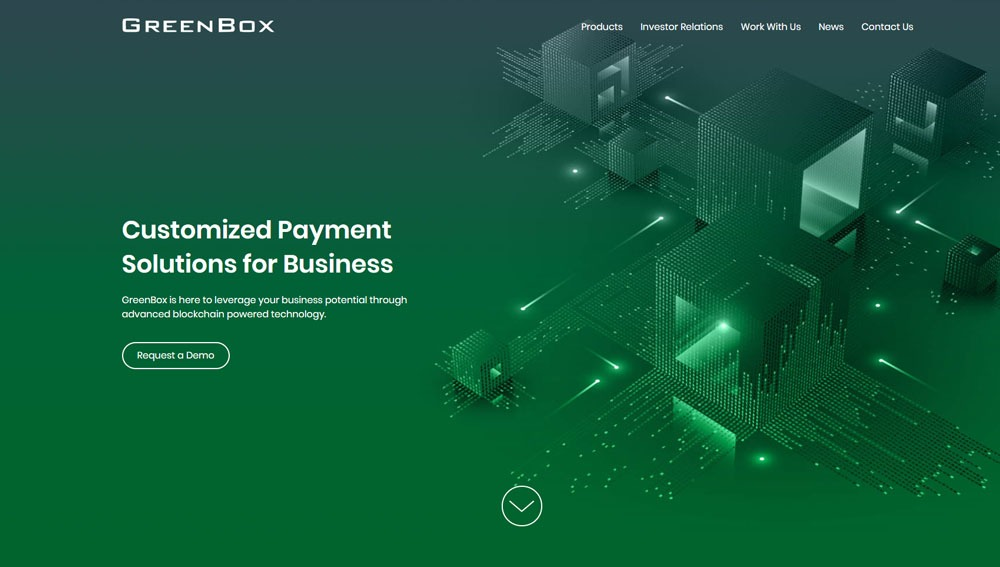 website design for international business GreenBox